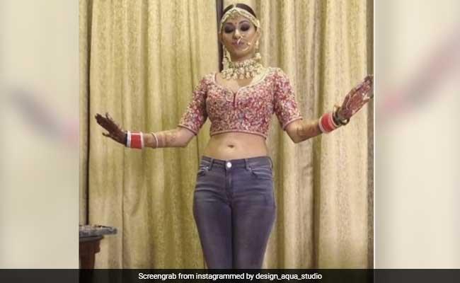 शादी के दिन दुल्हन ने चोली और जीन्स पहन किया डांस, देखें VIRAL VIDEO